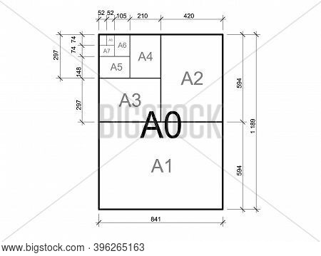 Paper Size. International A Series Paper Size Formats.