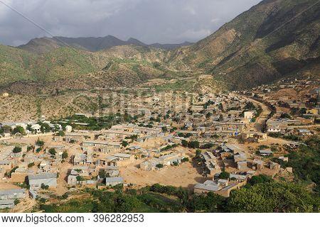 Tigray, Ethiopia - 14 August 2018. : Small Town Near Alitena In Tigray Region Of Ethiopia