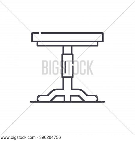 Field Table Icon, Linear Isolated Illustration, Thin Line Vector, Web Design Sign, Outline Concept S