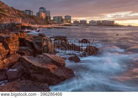 Coastal Landscape Of Newcastle Beach - The Coastal City Of Newcastle Is Australia's Second Oldest Ci