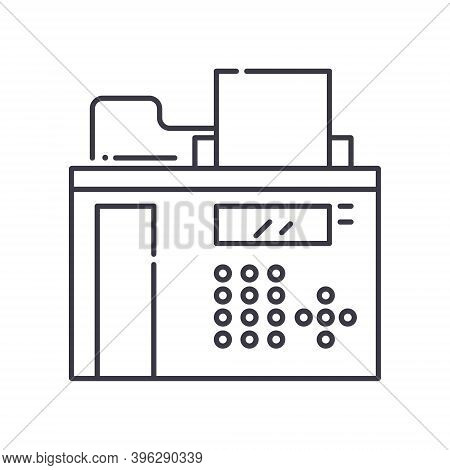 Fax Device Icon, Linear Isolated Illustration, Thin Line Vector, Web Design Sign, Outline Concept Sy