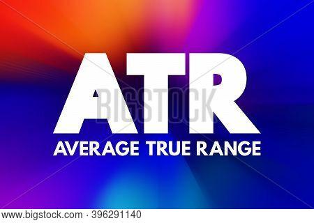 Atr - Average True Range Acronym, Business Concept Background