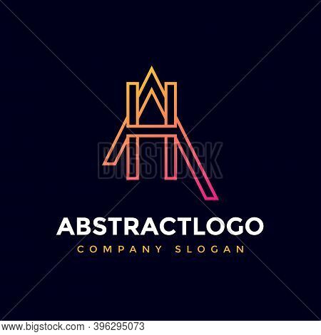 Ah Initial Letters Corporate Company Modern Logo Icon Element.