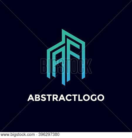 Af Letter Logo Icon Design Real Estate Company