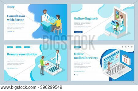 Consultation With Doctor, Online Diagnosis, Remote Consultation, Medical Services, Help Of Doctors A