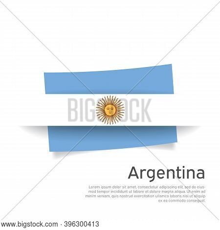 Argentina Flag In Paper Cut Style. Creative Background For Argentina Patriotic Holiday Card Design.