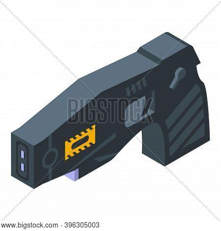 Taser Gun Icon. Isometric Of Taser Gun Vector Icon For Web Design Isolated On White Background