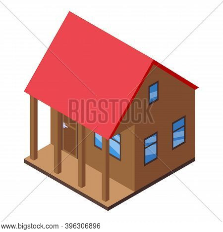 House Auction Icon. Isometric Of House Auction Vector Icon For Web Design Isolated On White Backgrou