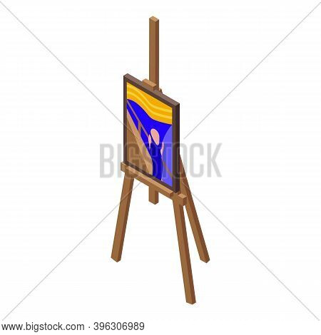 Old Paint Auction Icon. Isometric Of Old Paint Auction Vector Icon For Web Design Isolated On White
