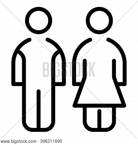 Marriage Couple Icon. Outline Marriage Couple Vector Icon For Web Design Isolated On White Backgroun