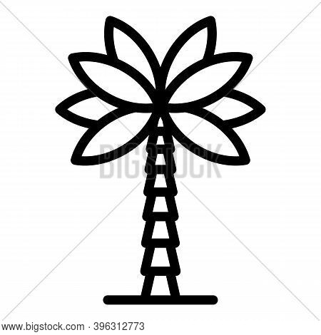 Coconut Palm Tree Icon. Outline Coconut Palm Tree Vector Icon For Web Design Isolated On White Backg