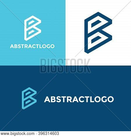 Letter B Creative Alphabet Monogram, Abstract B Font Logo Design, B Icon Unique Modern Vector Editab