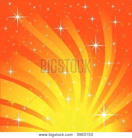 Orange And Yellow Star Burst