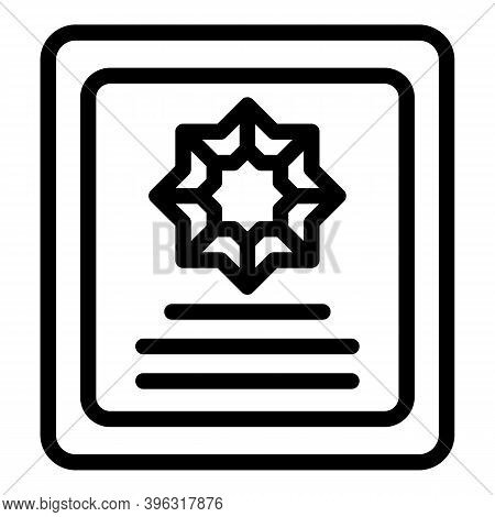 Reportage Id Icon. Outline Reportage Id Vector Icon For Web Design Isolated On White Background