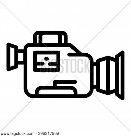 Reportage Camera Icon. Outline Reportage Camera Vector Icon For Web Design Isolated On White Backgro