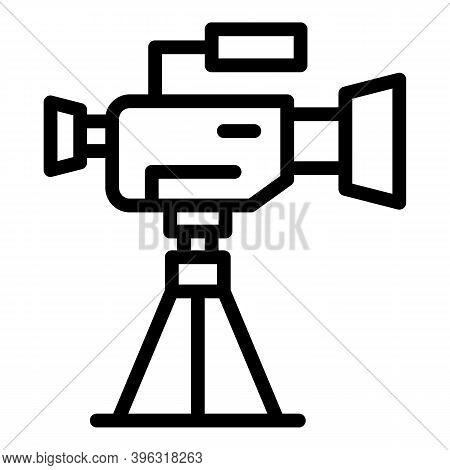 Cameraman Camera Icon. Outline Cameraman Camera Vector Icon For Web Design Isolated On White Backgro
