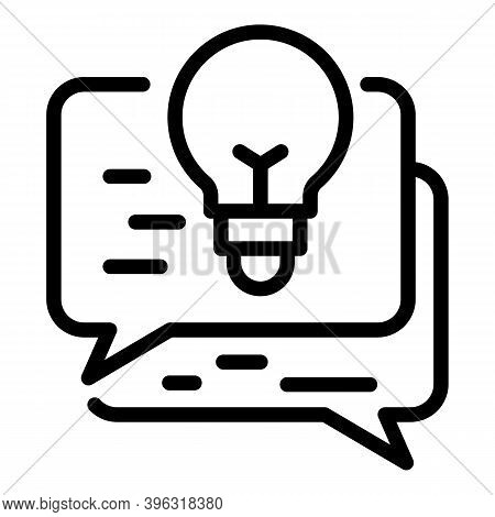 Reportage Idea Chat Icon. Outline Reportage Idea Chat Vector Icon For Web Design Isolated On White B