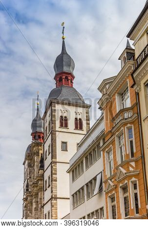 Towers Of The Namen-jesu-kirche Church In Bonn, Germany