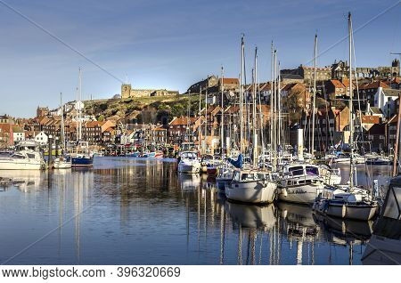 Whitby North Yorkshire 12 December 2017 Whitby Harbour Is A Working Harbour On The East Coast Of Nor