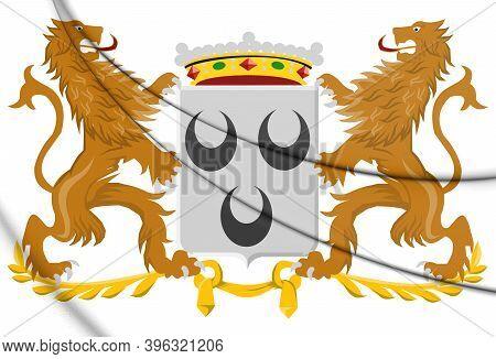 3d Oosterhout Coat Of Arms (north Brabant), Netherlands. 3d Illustration.