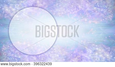 Circle Sparkle Gift Voucher Template Background - Pink Blue Lilac Sparkles Background With An Open L