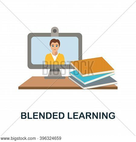 Blended Learning Icon. Simple Element From Online Education Collection. Creative Blended Learning Ic