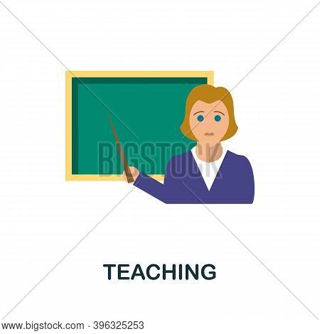 Teaching Icon. Simple Element From Online Education Collection. Creative Teaching Icon For Web Desig