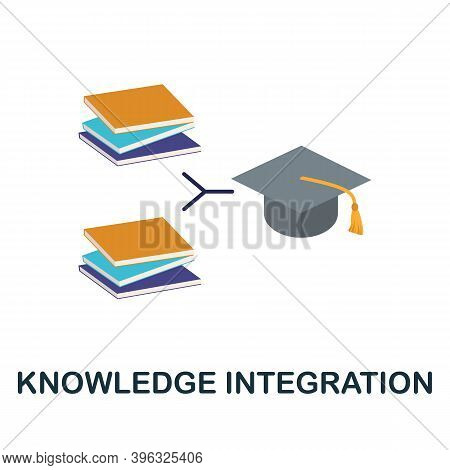 Knowledge Integration Icon. Simple Element From Online Education Collection. Creative Knowledge Inte