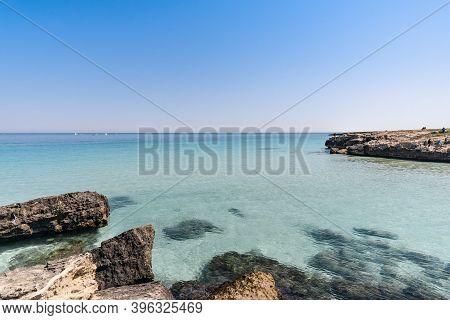 Beautiful Beach In Monopoli -metropolitan City Of Bari And Region Of Apulia (puglia).