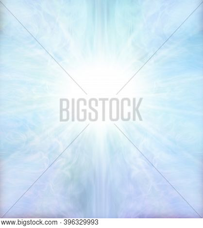 Blue Star Light Spiritual Background - Beautiful Pale Blue Ethereal Symmetrical Pattern Background W