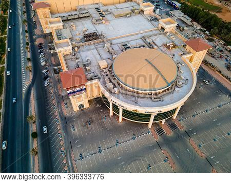 Ras Al Khaimah, United Arab Emirates - October 23, 2020: Aerial View Of Rak Mall In Ras Al Khaimah E