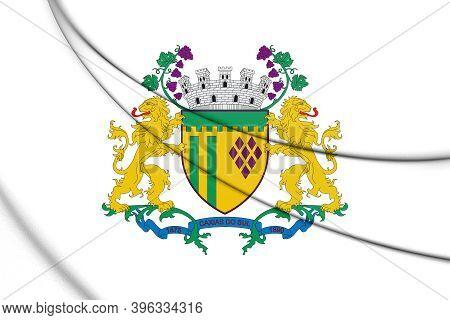 3d Flag Of Caxias Do Sul (rio Grande Do Sul), Brazil. 3d Illustration.