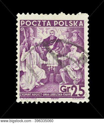 Poland - Circa 1938 : Cancelled Postage Stamp Printed By Poland, That Shows Recognition Of The Lubli