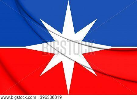 3d Flag Of Luis Eduardo Magalhaes (bahia State), Brazil. 3d Illustration.