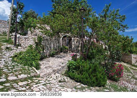 Berat, Albania - 09 May 2018: The Vintage House Of Berat City In Albania