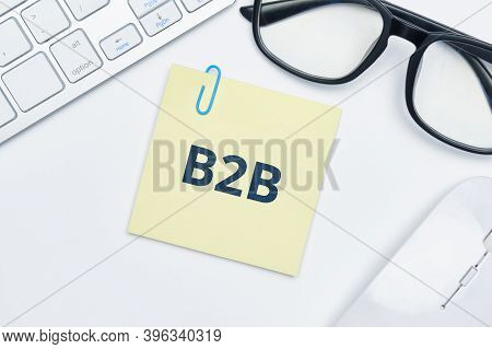 B2b Concept On Sticker And Online Deals.