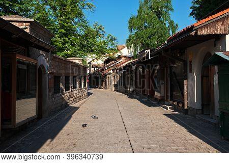 Sarajevo, Bosnia And Herzegovina - 29 Apr 2018: The Market In Sarajevo City, Bosnia And Herzegovina