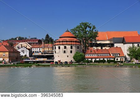 Maribor, Slovenia - 29 Apr 2018: Judgement Tower In Maribor City, Nord Slovenia