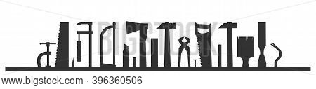 Carpentry Works. Silhouette. Any Kind Of Repair. Handyman Services Logo. A Carpenter. Universal Work