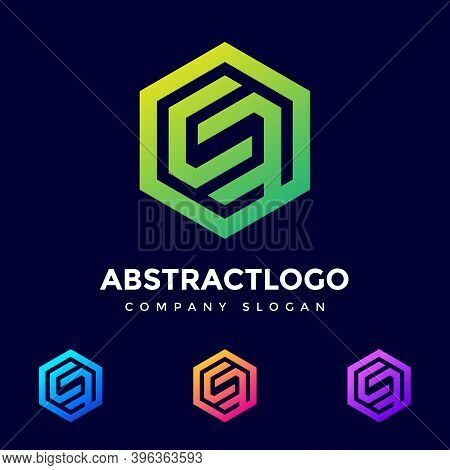 Blu Color Unique Letter Cf Logo Design Vector Template. Friendly Funny Abc Typeface. Characters Intr