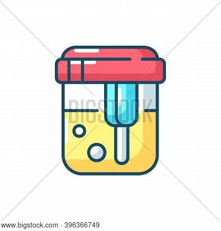 Urine Analysis Rgb Color Icon. Urinalysis Result. Healthcare Checkup. Kidney Health Examination, Dia