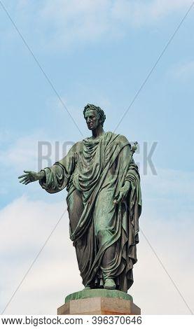 Vienna, Austria - July 31, 2019: Statue Of Austrian Kaiser (emperor) Franz I In Hofburg Palace Compl