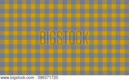 Yellow Mustard Gray Vintage Checkered Background. Space For Graphic Design. Checkered Texture. Class