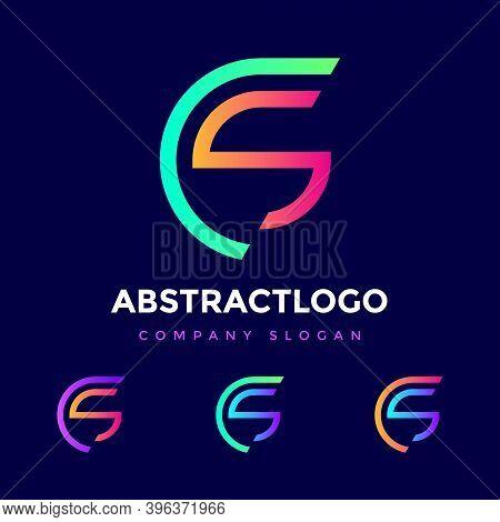 Initials Logo Cs Sc Letter Colorful Design. Creative Cs Monogram Modern Sc Icon Vector Element Illus