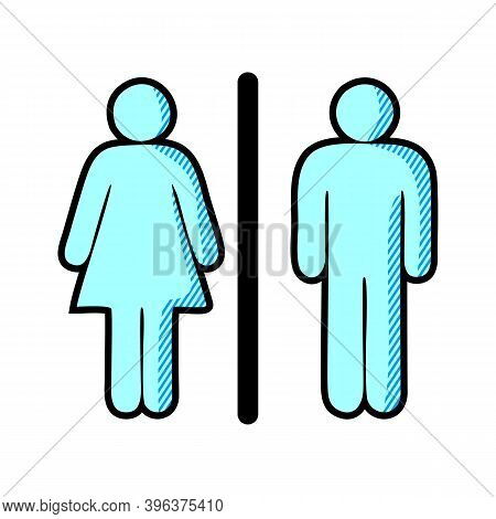Female And Male Icon Isolated On White Background. Female And Male Icon Modern Symbol For Graphic An