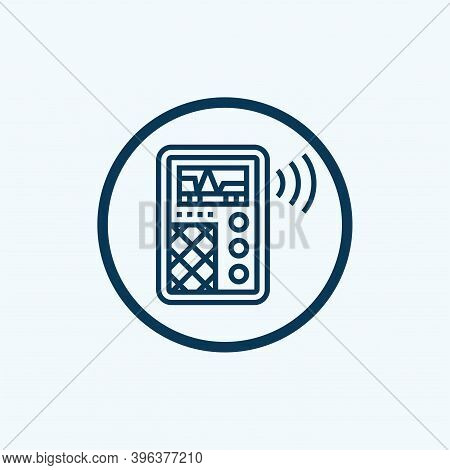 Reportage Dictaphone Icon. Outline Reportage Dictaphone Vector Icon For Web Design Isolated On White