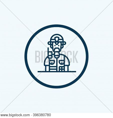 Police Icon Isolated On White Background From England Collection. Police Icon Trendy And Modern Poli