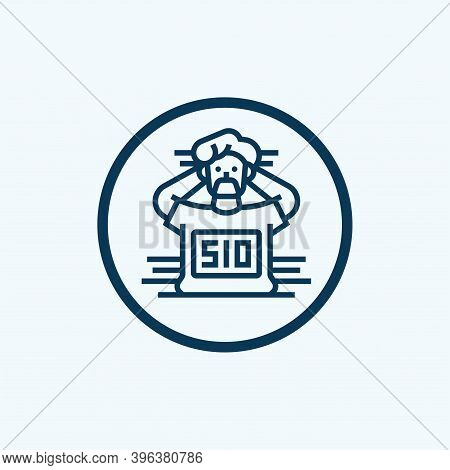 Prisoner Icon Isolated On White Background From Law And Justice Collection. Prisoner Icon Trendy And