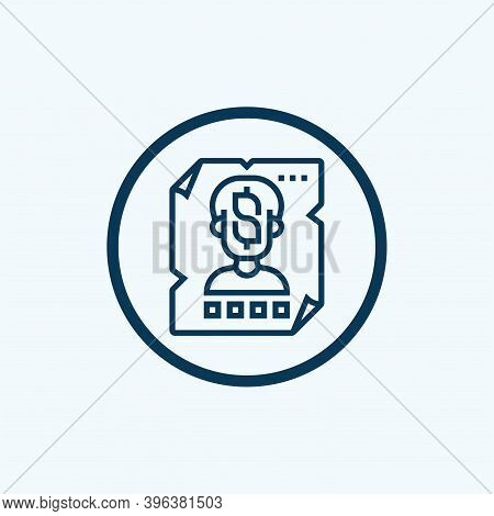 Wanted Icon Isolated On White Background From Law And Justice Collection. Wanted Icon Trendy And Mod