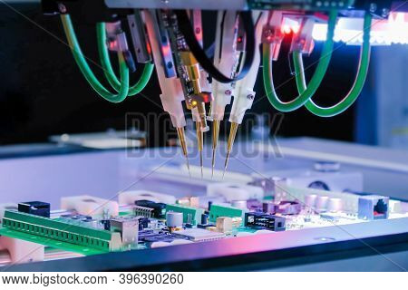 Automated Technology, Industrial, Robotic, Electronic, Production, Manufacturing Concept. Automation